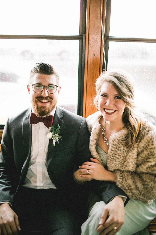 Winter Wedding Portraits Mayden Photography Washington