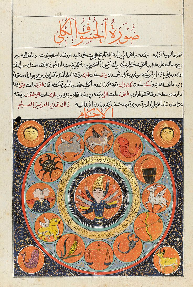 An Ottoman Calendar made for Sultan Abdulmecid I, drafted by Mehmet Sadullah, Turkey, dated 1260 AH/1844 AD.