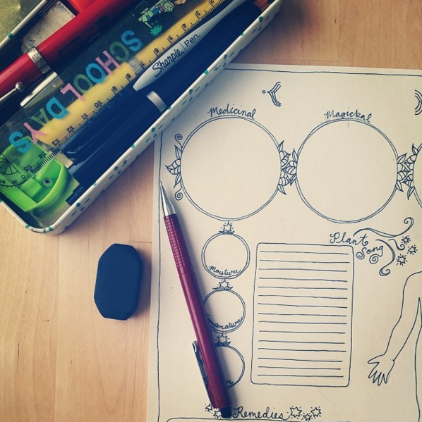 The Lunar Apothecary is full of hand-drawn magick!
