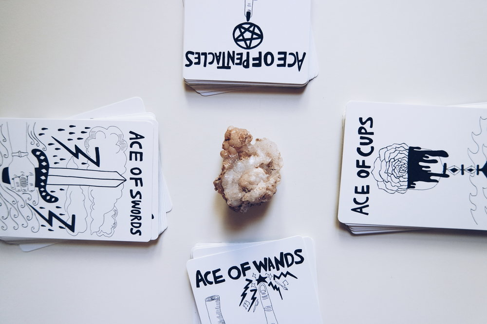 Spirit Speak Tarot + Topanga Canyon quartz crystal