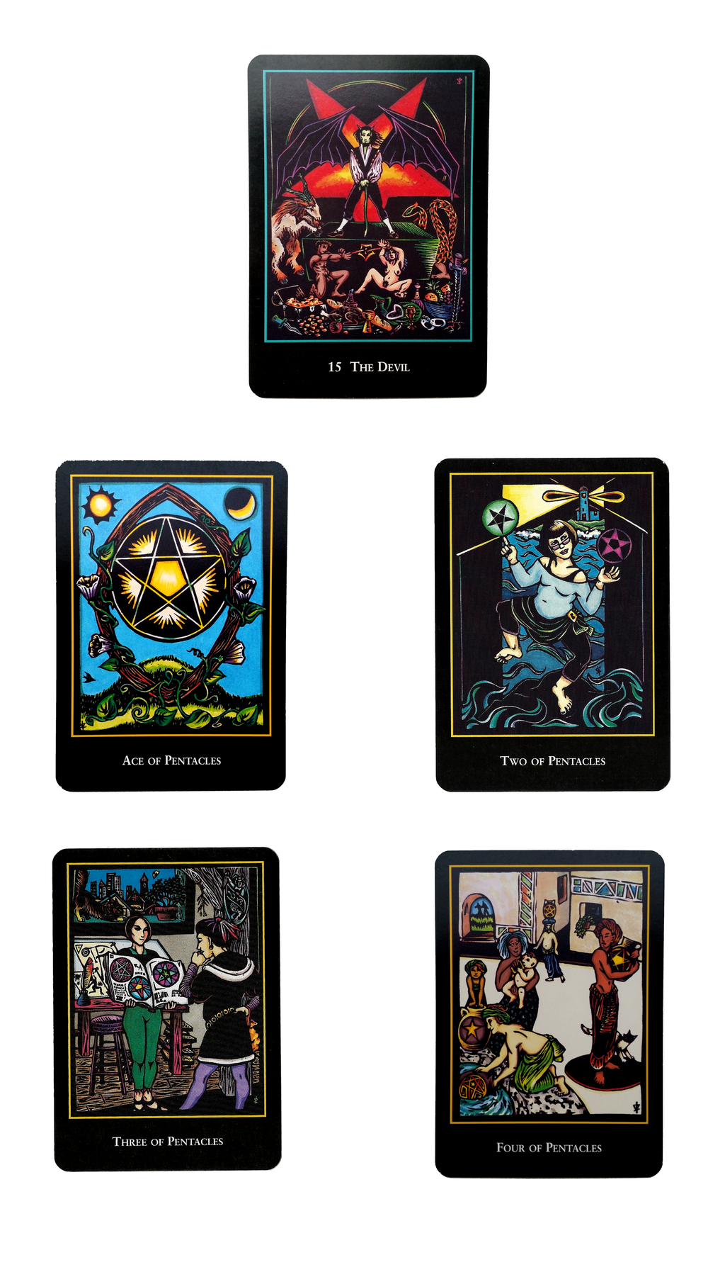 Cards are from The World Spirit Tarot