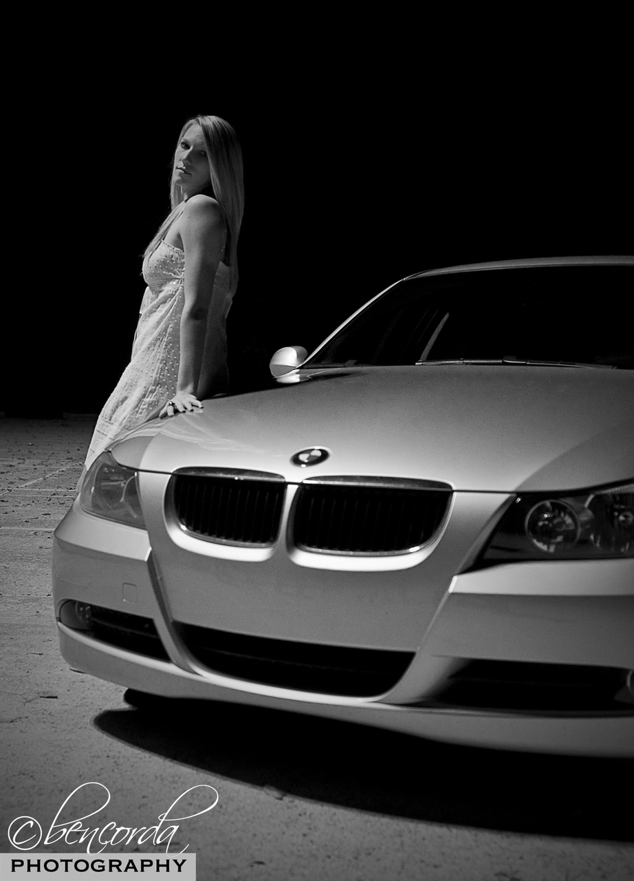 I love night photoshoots. They are challenging and push the limits of my knowledge and gear.   Thanks to Jonathan (  www.jford.net  ) for allowing us to use his beautiful BMW and M'Liss for modeling although it was freezing outside.   This is just a quick edit, more technical ones to come…