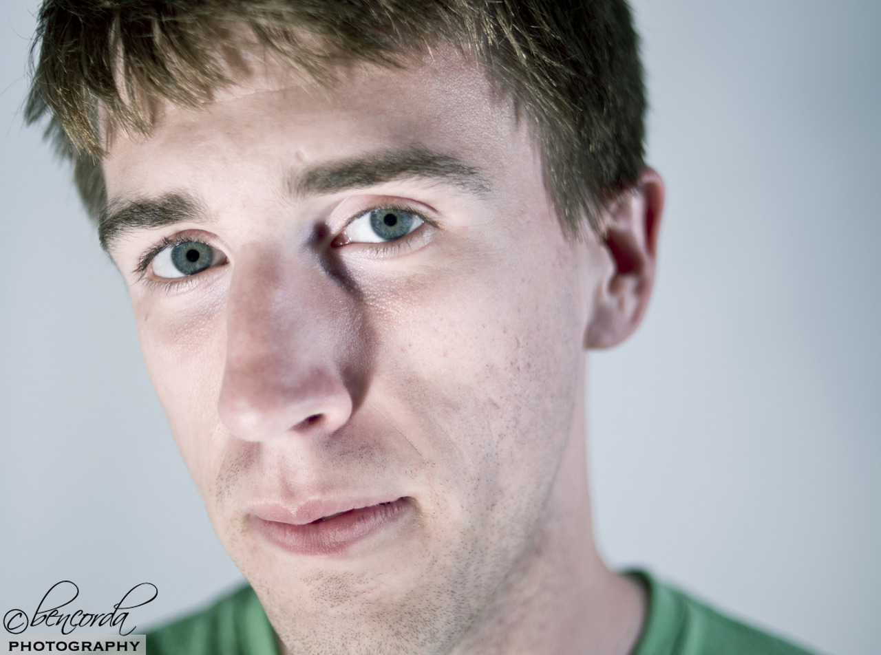 Currently I'm working on a series of low aperture studio portraits, paired with environmental shots. Here is an image from a lighting test, its not quite there yet, but getting to where I want it to be. Thanks to Cody (  www.thecodybryant.com  ) for sitting for me.