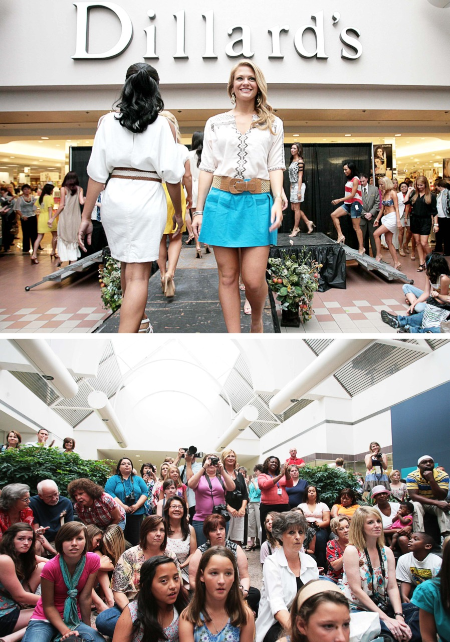 Both Perspectives:   I will be covering a lot of the Miss Louisiana competition. This was captured at the Dillard's Style Show and it shows what the audience and the contestants were looking at (although there was a lot more to the crowd). Read on HERE at  http://www.thenewsstar.com/article/20110622/NEWS01/106220317/Contestants-strut-catwalk?odyssey=tab|topnews|img|FRONTPAGE