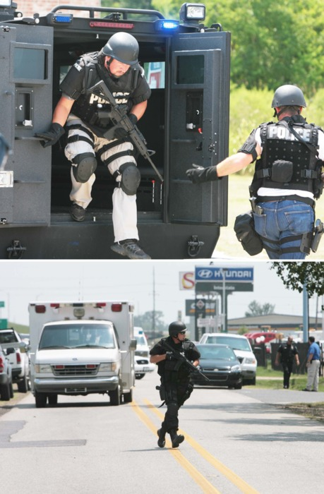 SWAT:     Standoff by an armed robber at a bus station… 7/6/11