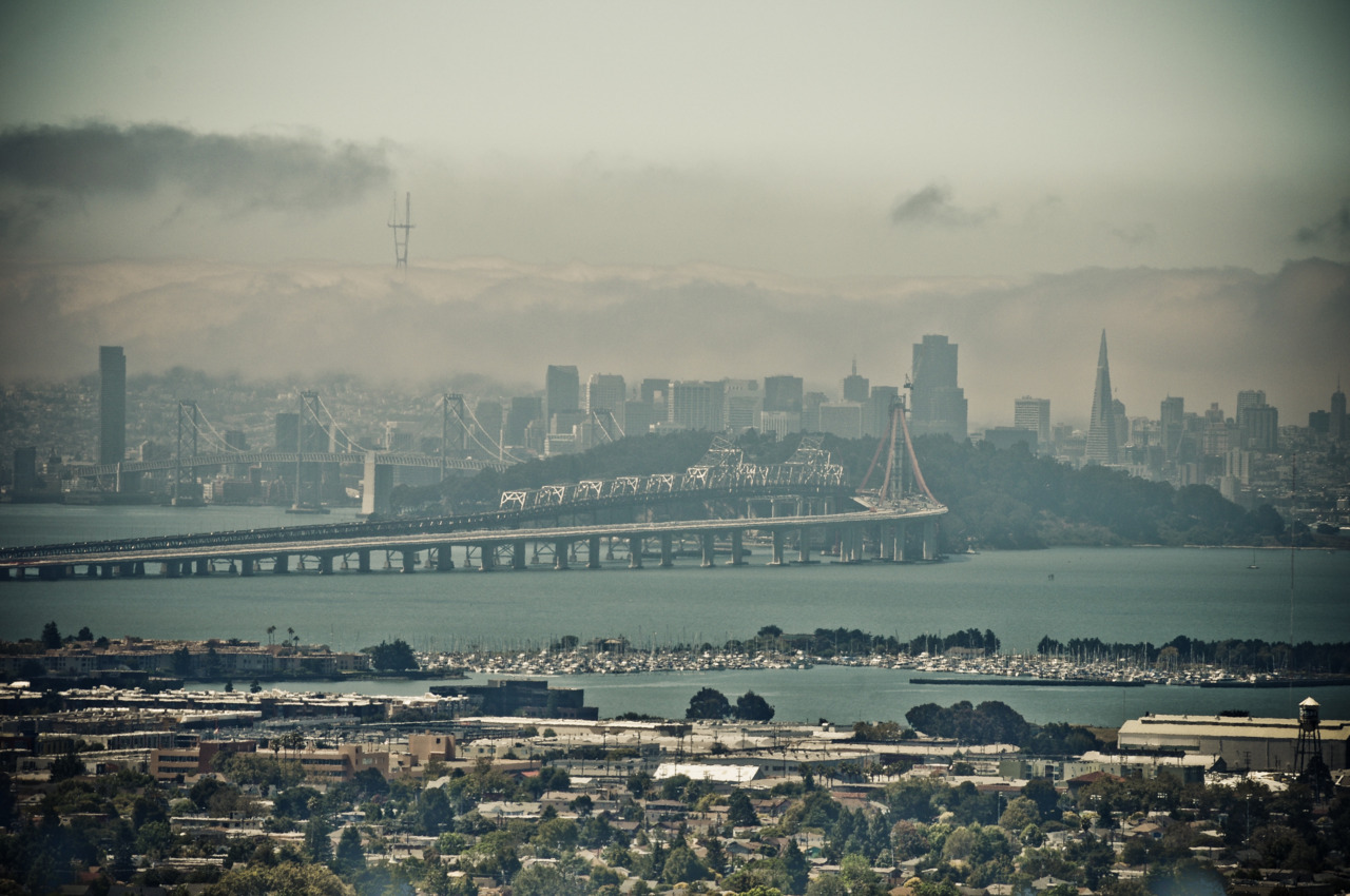 A view of San Francisco from the hills of Berkeley