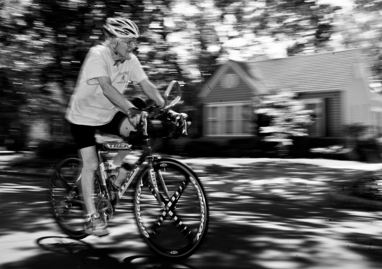 Miles Luke, 93 and an avid cyclist, advocates for more bike routes in the city of Monroe.