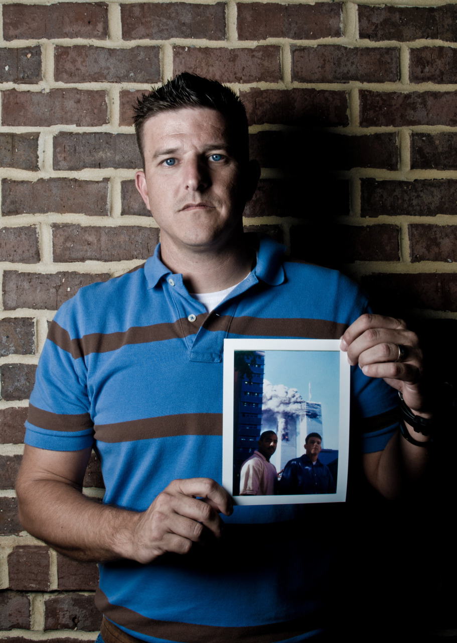 "He was there:    Story by Barbara Leader    Photo by Ben Corda     Active duty Marines Crystal and Andy Stephenson, a young married couple were both working on Sept. 11, 2001 — one in New York and one in South Carolina — when time stopped and the world changed.       Andy, a military bomb dog handler from Rayville, and Crystal, who is from Pennsylvania, were stationed in South Carolina but Andy was on loan to the United States Secret Service. He was working in New York City on an advance team for the United Nations General Assembly.   His base of operations was the World Trade Center, towers 7 and 2 somewhere around the 85th floor. Tower 2 was the second tower hit by a hijacked aircraft shortly after 9 a.m. Sept. 11.   Andy was to be at work at 9 a.m., but something that he says still defies explanation delayed his arrival.   ""It was 8:15 or 8:20, and I decided to take Sheila (his bomb detecting dog) down to Central Park, the only patch of grass we could find in New York City,"" he said.   Sheila was a highly trained bomb detection dog who easily responded to hand and voice commands. But, when Andy decided to go back to the hotel, Sheila refused to come.   ""She was chasing pigeons, she wouldn't come when I called her,"" he said. ""She would lay down, and when I would try to get close to her, she would take off running. Here I was, someone who was supposed to be able to control his dog and I couldn't. I felt like a fool. Thank goodness I wasn't in uniform.""   For 15 minutes, Andy chased and coerced Sheila before gaining control and returning to the hotel.   ""I don't know what happened,"" he said. ""She's never acted that way before, and she never acted that way again.""   At the hotel, he met up with three other Marines and left to catch the E train to the subway stop at the World Trade Mart. They missed the train and had to wait another seven minutes for the next.    Meanwhile, Crystal heard about a plane crashing into the  first tower of the World Trade Center through a phone call from Andy's sister who didn't know Andy was in New York. ""I said, 'Andy's there' and I hung up,"" Crystal said. ""Right then, Andy called.""   Andy had emerged from the subway to find one of the towers burning. Like many others, it took him a few seconds to realize the magnitude of what had happened. When he did, he immediately called Crystal to let her know he was not in the building and that he was OK.   Crystal was six months pregnant with their daughter.   ""You could hear the fear in her voice,"" Andy said.   The whole scenario unfolded as Andy watched. He saw children being led from a day care center hand in hand away from the World Trade Center area.   He was watching what he thought was paper falling out of the tower when he realized it was much worse.   ""It was actually people jumping out, hand in hand,"" he said.   While the couple was on the phone, another plane hit the second tower and they lost their phone connection.   ""I actually fell down, and somebody caught me,"" Crystal said. ""My knees got weak.""   Crystal went to her office to watch television with her co-workers. She feared that Andy had gone into the tower to help with the rescue effort.   ""I remember everybody turned around and looked at me,"" she said. ""I must have been crying hysterically, someone said: 'Get her out of here.'""   Crystal said she asked to go home where she could be near her home phone and her cell phone.   ""I watched the towers fall,"" she said. ""I watched one fall and then I watched the other fall. All I could think about was how I was going to have to be able to explain to our daughter who her father was.""   Hours passed before she reconnected with Andy.   In New York City, Andy offered his assistance but was moved away from the scene with others in the effort to evacuate the area.   As he left the area, he stopped to buy a disposable camera to capture the scene. He posed with his fellow Marine, Sgt. Christian Blue, as the towers burned in the background. During the days that followed, Andy was called to work with Sheila to secure areas for visits by former President Bill Clinton and President George W. Bush.   ""What I'll always remember about that day is that after a city was humbled and brought to its knees, there was this huge sense of togetherness and patriotism,"" Andy said.   Less than a month later, Andy and Crystal, impacted by the events of Sept. 11, re-enlisted in the Marines for another four years.   Crystal is a member of the National Guard and has served a tour of duty in Iraq. Andy is a Louisiana State Police trooper on patrol with his narcotic detecting dog, Senda.   ""I believe some people are meant for the military and some aren't,"" Crystal said. ""Some can bear the weight and some can't. Those of us that can, should … and we did.""       http://www.thenewsstar.com/article/20110911/NEWS01/109110317/Dog-s-disobedience-likely-saved-his-life?odyssey=tab