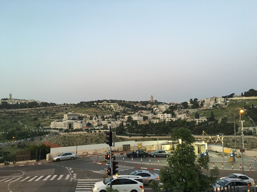 The view looking back at BYU Jerusalem from the outskirts of old Jerusalem