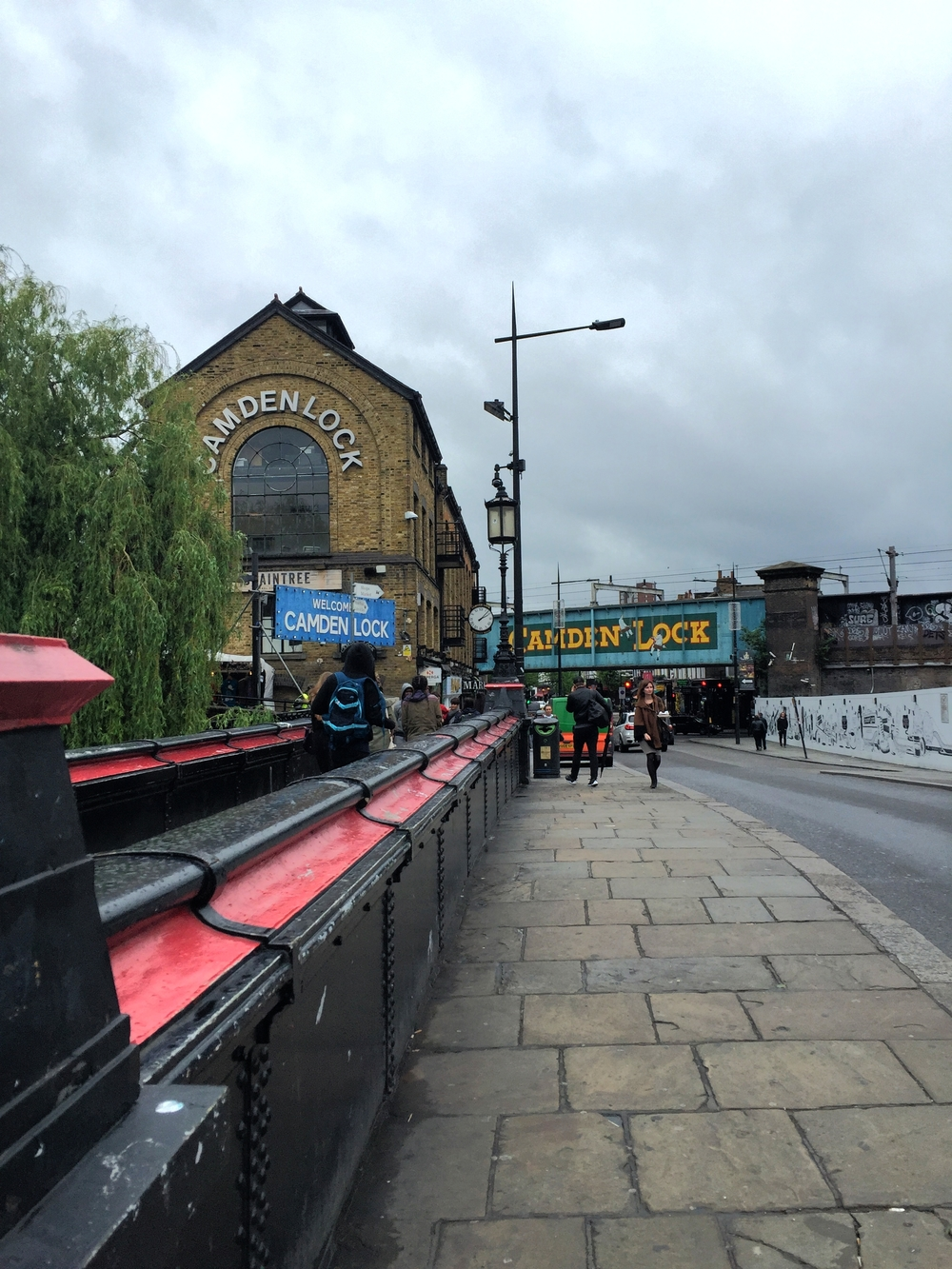 A grey day at Camden Lock.