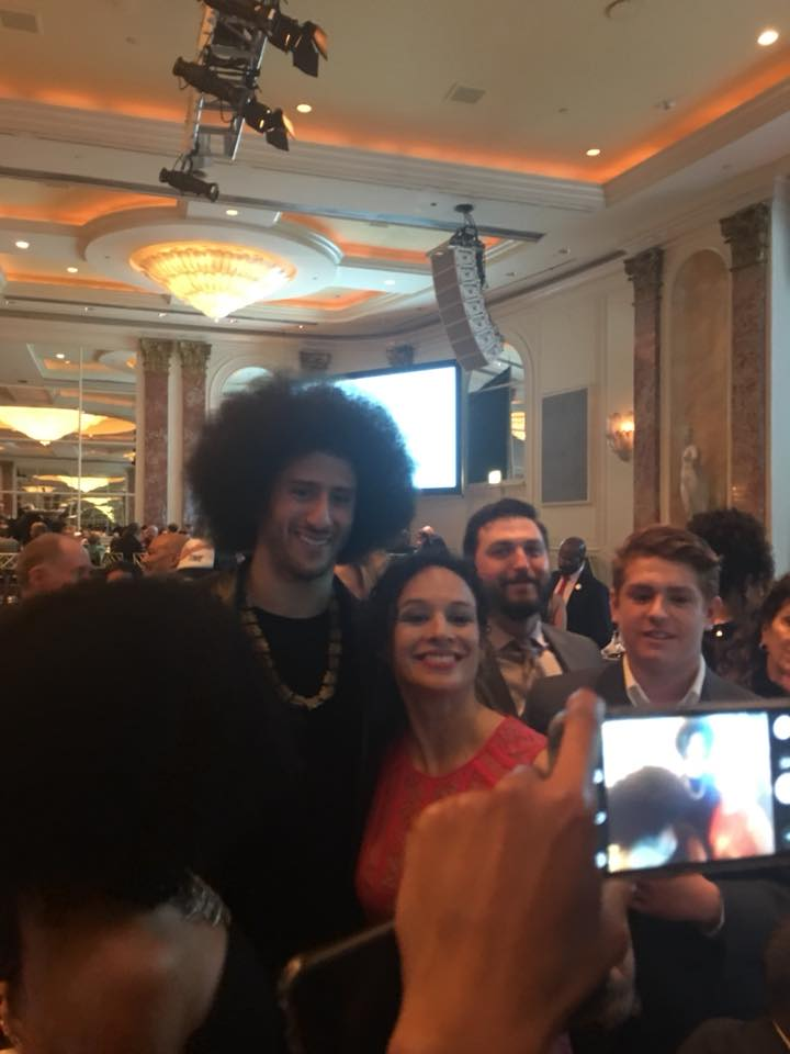 With Colin Kaepernick at the ACLU SoCal awards dinner 2017