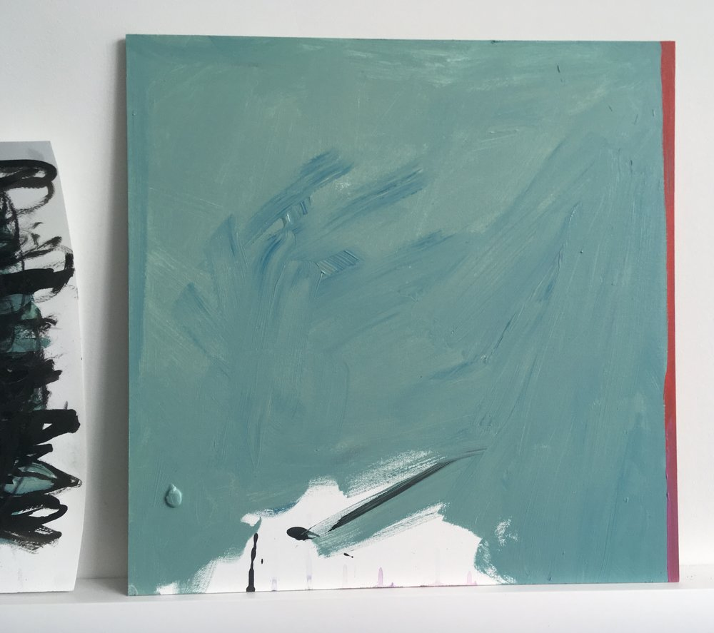 Culminate = acrylic on canvas board