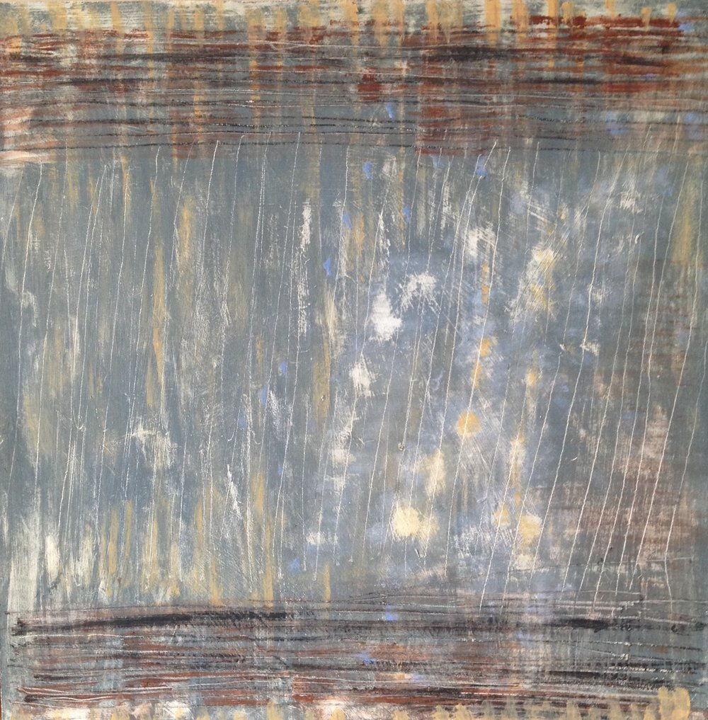Glimpse - encaustic on board