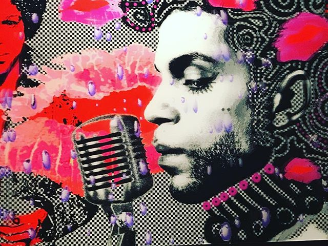 Stunning print of the #GOAT in the lobby of @arclightcinemas in Pasadena by @reisig_and_taylor . . . . #prince #goat #art #reisigandtaylor #arclightpasadena #funk #princenelson #princerogersnelson #whendovescry
