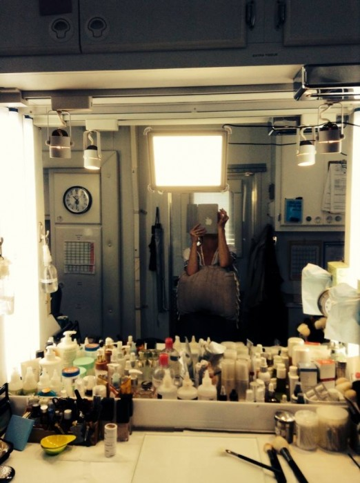 The Makeup Light is famous on Movie sets :) Here is is on the set of the new movie Jurrasic World COming this summer!