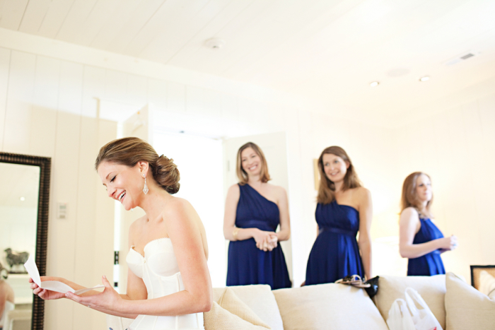 brides and maids getting ready