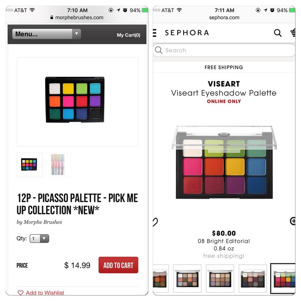 Morphe knocking off Viseart
