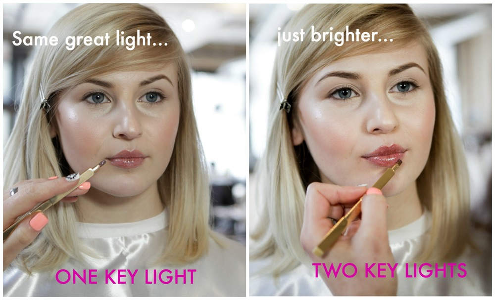 how to use the makeup light