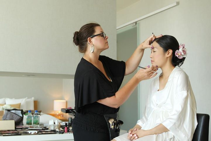 Sonia working with one of her brides