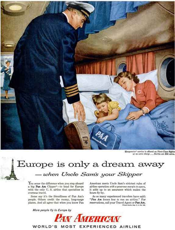 Vintage American Vintage Airline Ads