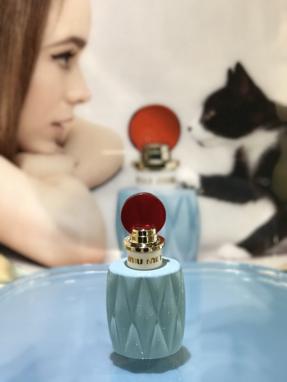 everything is better with a kitten....beautiful fragrance packaging from Miu Miu