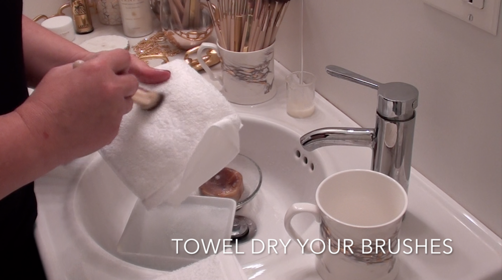8. Towel dry your brushes well.