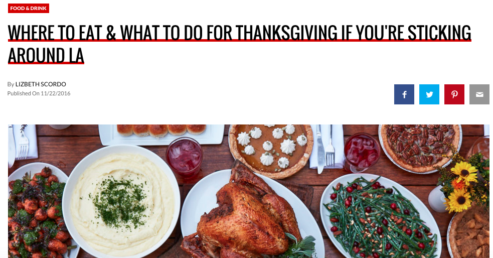 Thrillist | Where To Eat Thanksgiving
