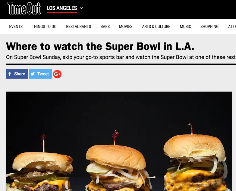 Time Out LA | Where To Watch The Super Bowl