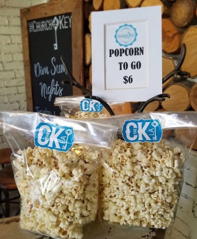 Grab some of our browned butter, malt, & vinegar popcorn to go! #netflixandchill 🍿