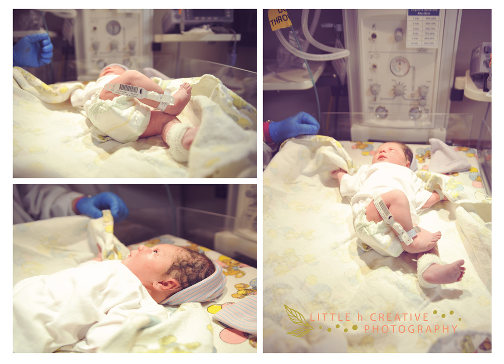 baby hospital newborn photography