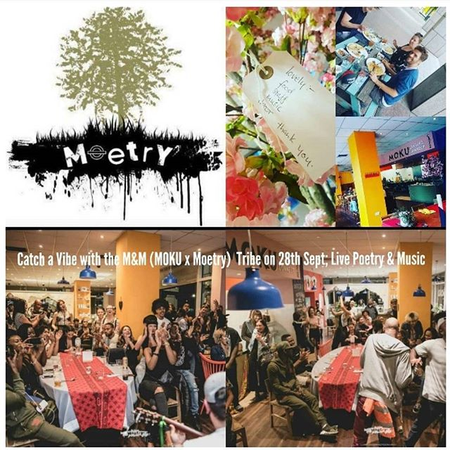 The vibes are always right when the M&M tribe put on a show. . . . M(oetry) x M(OKU) poetry/spoken word and insane beats to get you off your feet: part II live and direct at the @mokubeach Culture Connect Cafe! . . . Date: 28th September Time: 6pm onwards Location: The Republic, 1 Clove Crescent, E14 2BA . . ~Wholesome food for the Soul ~Massages to relax your body and mind ~Drinks ~Vibes and more Vibes Instagram: @moetrypeacelovepoerty @mokubeach  #smile #vibes #poetry #connect #friendship #food #massages #wellbeing  www.mokubeach.com