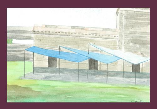 Design for Festival Pavilion by Sarah Phykitt