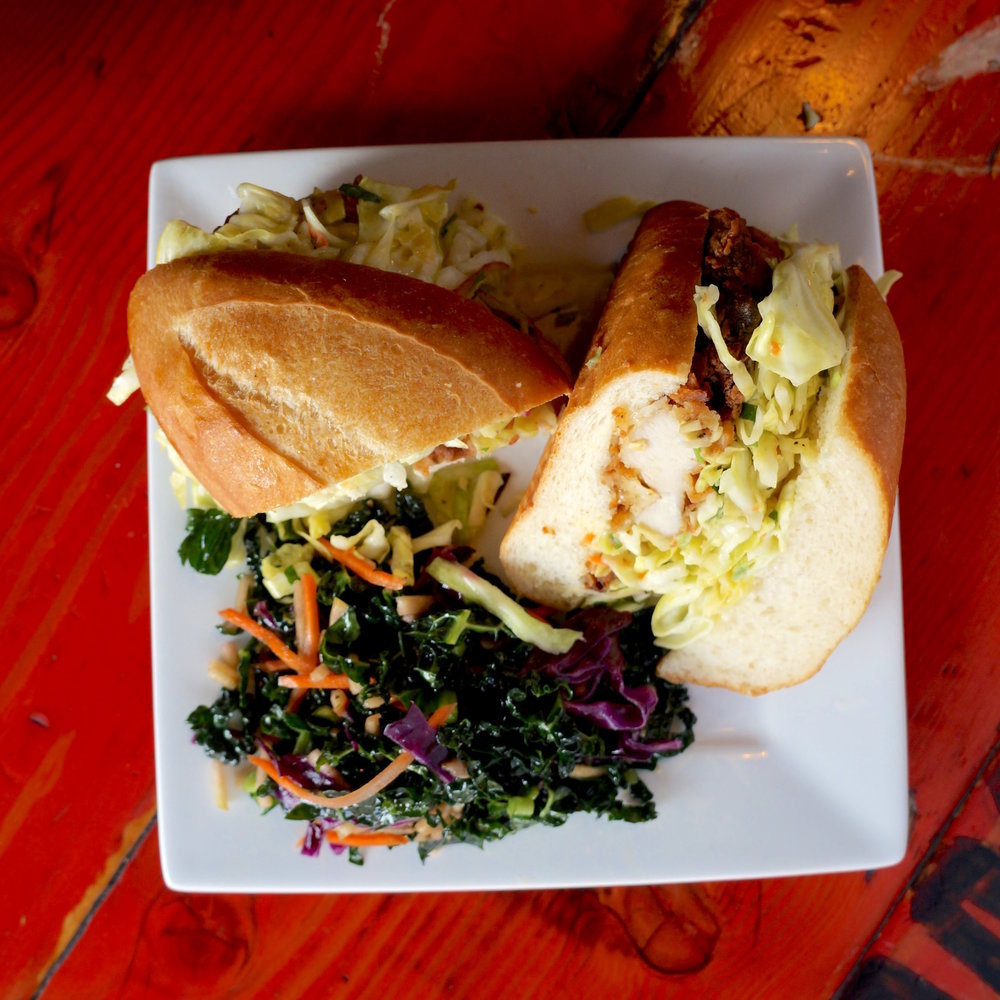 #1 - chicken sandwich with kale