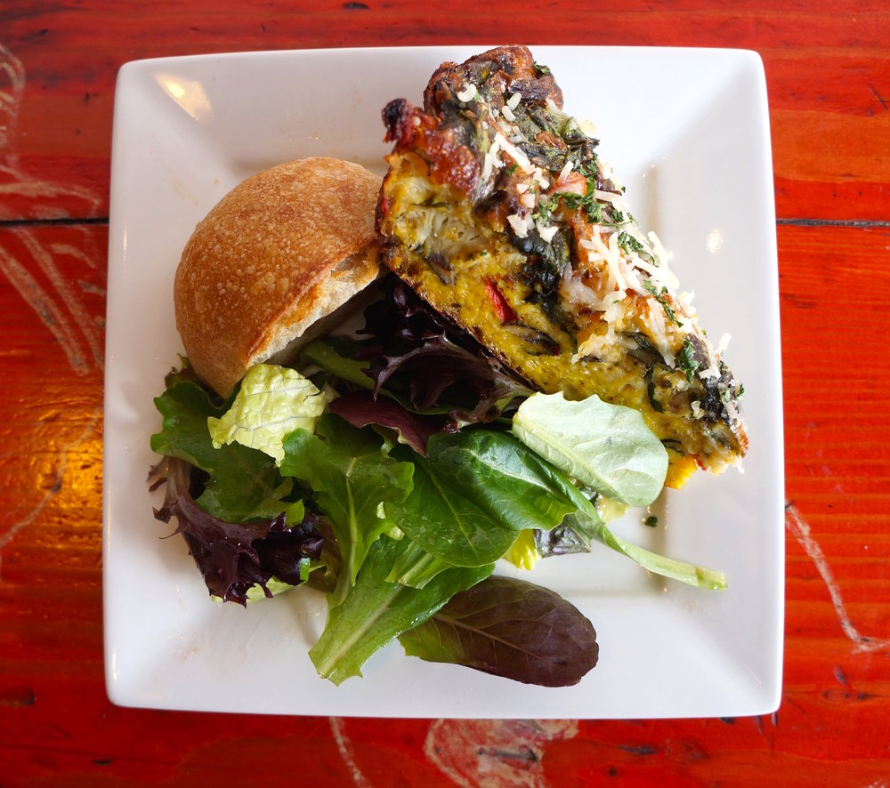 #3 - vegetarian frittata with salad