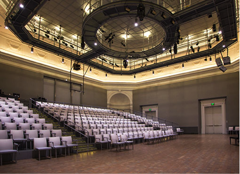 The Taube Atrium Theater in the Wilsey Center for Opera, San Francisco, 401 Van Ness Ave ( google map )