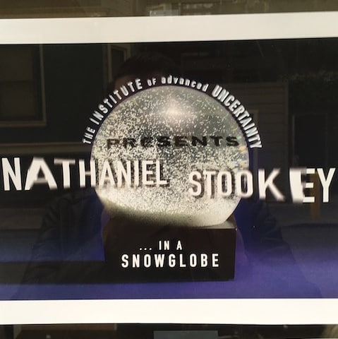 #Snapshot composer Nathaniel Stookey is spending the week composing in a snowglobe at@instituteofuncertainty (IOU) in Hayes Valley! Nat is inhabiting a winter Diorama by Elkhanah Pulitzer and Chad Owens that can be seen through the windows! Go  inside and say hello. ❄️❄️❄️