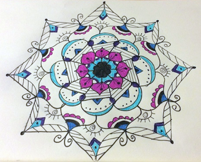 Mandala in progress, by Melissa Black
