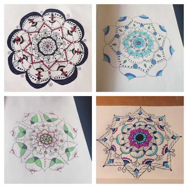 Completed mandalas, by Melissa Black
