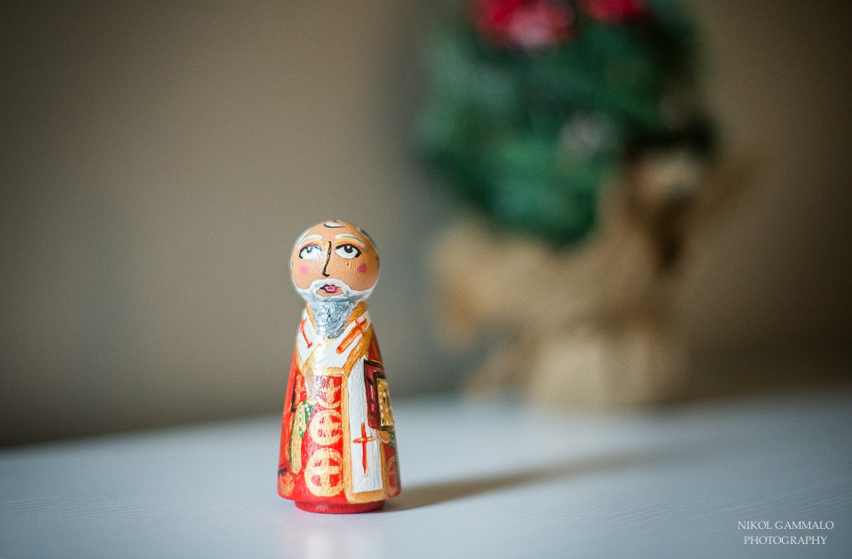 St. Nicholas hand-painted, wooden peg doll by Holy Peoples.  My friend, Kathy, has done an amazing job making these dolls.  I will post another blog after Christmas showing more of them!