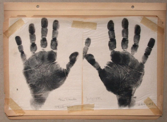 Palm Reader's Print, Date unknown, Ink on paper, 8 ½ x 5 ½ inches