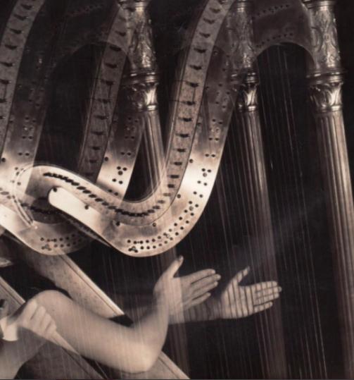 Imogen Cunningham, Three Harps, 1935, Gelatin silver print, 9 ½ x 7 ½ inches