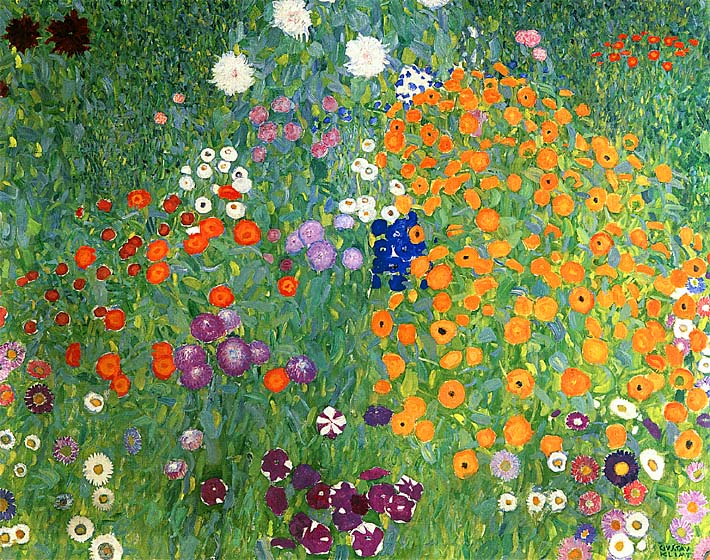 Gustav Klimt, Bauerngarten, 1907, Oil on canvas, 43 ¼ x 43 ¼ inches