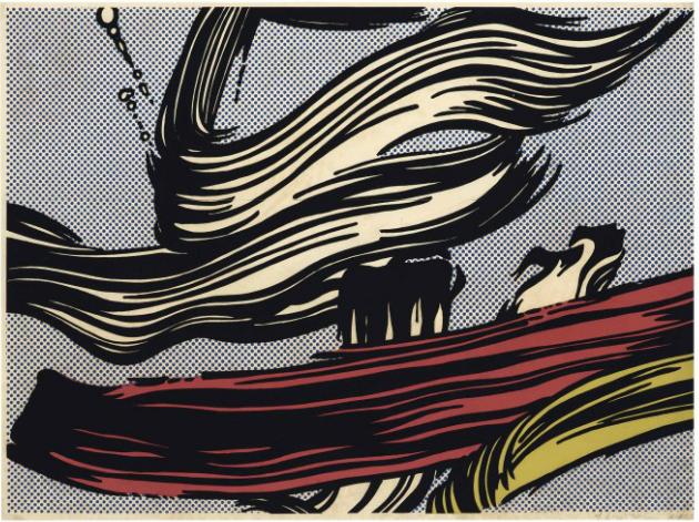 Roy Lichtenstein, Brushstrokes, 1967, Artist Proof from an edition of 300, Christie's, Estimate: $8,000 – 12,000