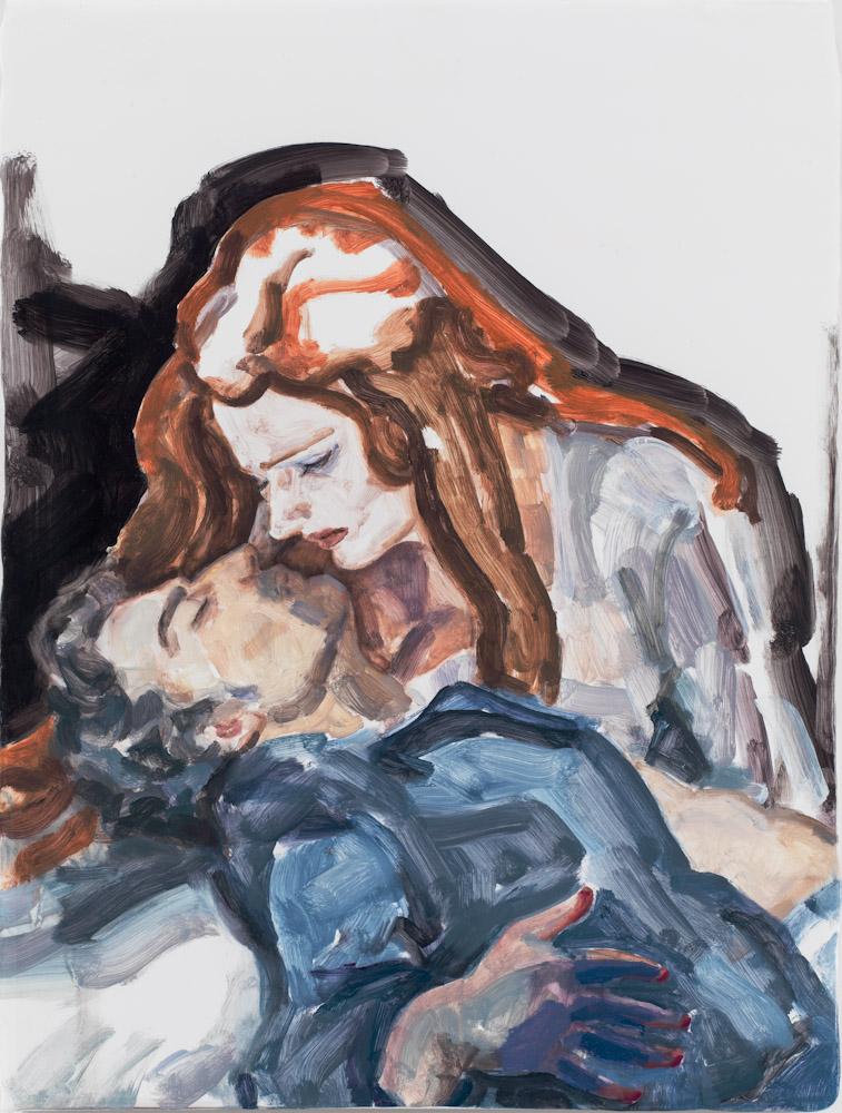 Elizabeth Peyton, Parsifal (Jonas Kaufmann and Katarina Dalayman), NYC 2013, 2013