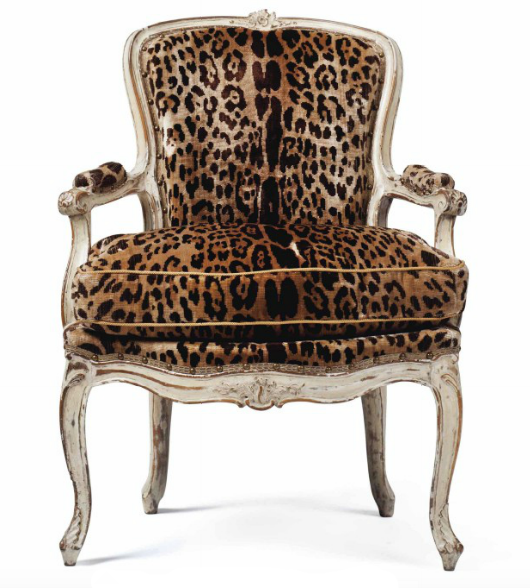 Louis XV-style walnut chair, Estimate: $1,500 – 2,000
