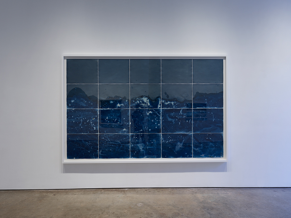 Meghan Riepenhoff: Littoral Drift at Yossi Milo Gallery, Installation view (Open through April 29)