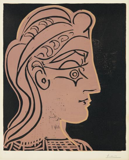 Pablo Picasso, Head of a Woman in Profile, 1959, Estimate: $20,000 - 30,000