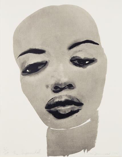 Marlene Dumas, Super Model, 1995, Estimate: $8,000 - 12,000