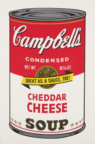 Andy Warhol, Cheddar Cheese, from Campbell's Soup II, 1969, Estimate: $12,000 - 18,000