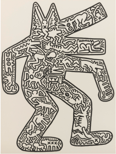 Keith Haring, Dog, 1986, Estimate: $20,000 - 30,000
